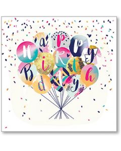 Birthday Balloons Single Card