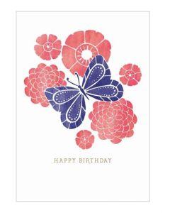 Beautiful Butterfly Birthday Single Card