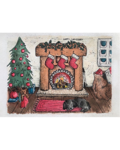 By The Fireside - Brain Tumour Research Campaign Charity Christmas Cards