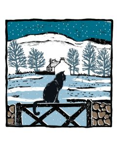 Cat on a Fence - Cards For Good Causes Charity Christmas Cards