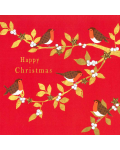 Happy Christmas Robins - Cards For Good Causes Charity Christmas Cards