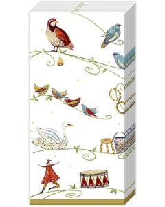 12 Days of Christmas  Gold Tissues - Charity Christmas Gifts & Decorations