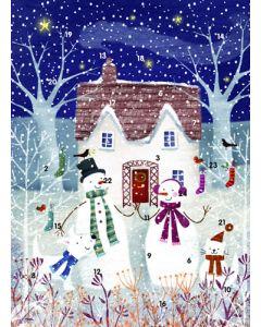 The Snow Family - Traditional Advent Calendar Card
