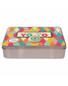 Yo Yo In A Flat Brushed Tin- Harlequin