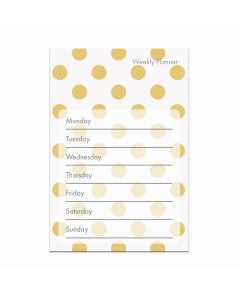 Weekly Planner - Gold and White Dot