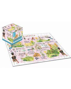 100 Piece Cube Jigsaw Puzzle - Wanderings Edinburgh