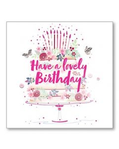 Birthday Cake Single Card