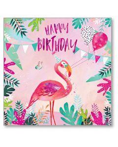 Flamingo Party Birthday Single Card
