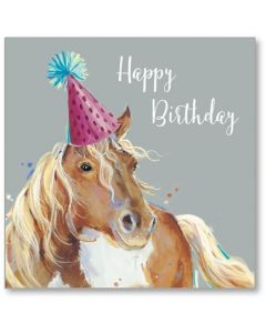 Special Day Horse Birthday Single Card