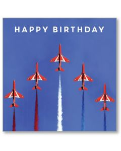 The Red Arrows Display Birthday Single Card