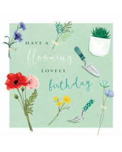 Have A Blooming Lovely Birthday Single Card