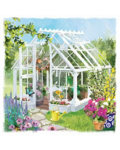 Summer Greenhouse Single Card