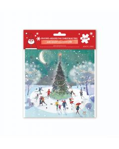 Skating Around The Christmas Tree Advent Card - Cards For Good Causes Charity Christmas Cards