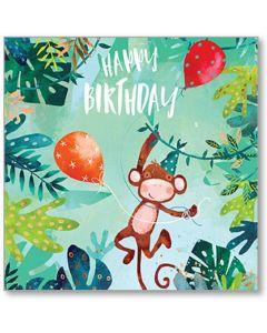 Cheeky Monkey Birthday Single Card