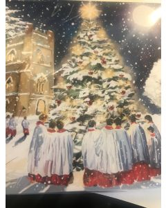 Choir at the Tree - Parkinson's UK - charity Christmas cards