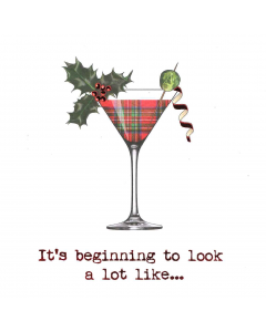 Christmas Cocktail - Chest Heart And Stroke Scotland Charity Christmas Cards