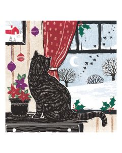 Cosy Cat - Cards For Good Causes Charity Christmas Cards