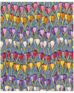 V&A Row of Crocuses Everday Single Cards