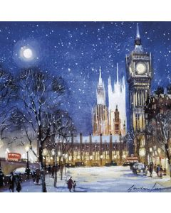 Parliament by Night by Gordon Lees - Cancer Research UK Charity Christmas Cards