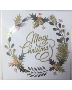Delicate Wreath  - Cancer Research UK Charity Christmas Cards