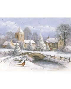 Picture Perfect Village in Winter - Cancer Research UK Charity Christmas Cards