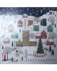 Wintery Village  - Cancer Research UK Charity Christmas Cards