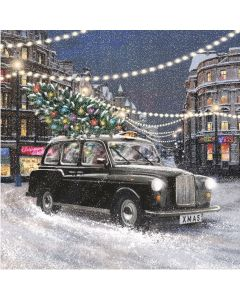 London Taxi  - Cancer Research UK Charity Christmas Cards