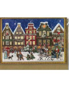 Miniature Victorian Advent Calendar - Christmas Street - Christmas Gifts and Decorations