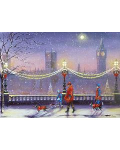 London Scene with Dogs - Diabetes UK Charity Christmas Cards