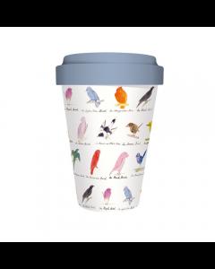 Edward Lear Birds - Bamboo Travel Mug
