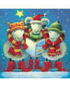Carol Singing Sheep - Epilepsy Action Charity Christmas Cards