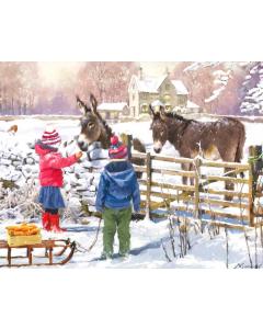 Feeding The Donkeys Welsh