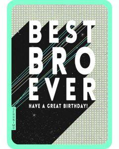 Best Bro Birthday Single Card