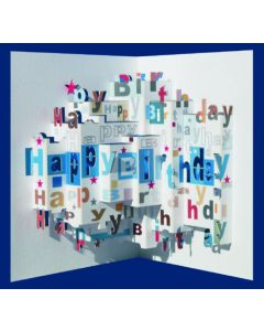 Happy Birthday Pop Out Single Card