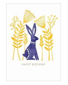 Happy Birthday Hare Single Card