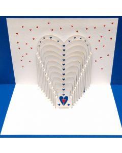 Heart Pop Out Single Card
