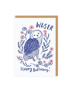 Wiser Owl Birthday Single Card