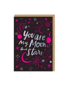 You Are My Moon and Stars Single Card