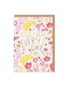 Miss You Every Day Single Card