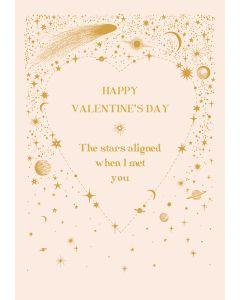 The Stars Aligned Valentine's Day Single Card