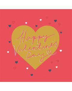Golden Heart Valentine's Day Single Card