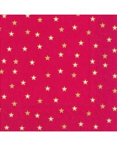 Little Stars Red Gold Lunch Napkin