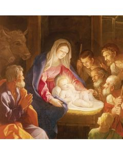 Madonna and Child Illuminated  - Cards For Good Causes Charity Christmas Cards