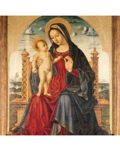 Madonna Enthroned and Child - The Childrens Society Charity Christmas Cards