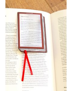 Magnifying Book-Shaped Bookmark