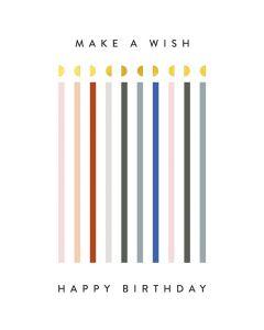 Make a Wish Birthday - Happy Birthday Single Card