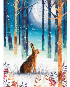 Moonlit Hare - Marie Curie Charity Christmas Cards