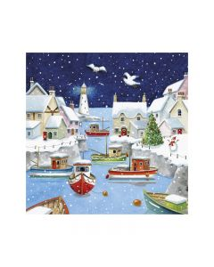 Festive Harbour  - Marie Curie Charity Christmas Cards