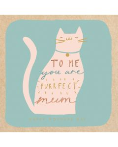 Make Do and Mend Cat Mother's Day Single Card