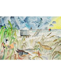 Hen reedbeds  - Suffolk Wildlife Trust Charity Christmas Cards